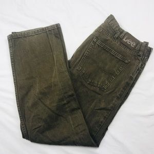Men's 38 x 30 LEE brown denim casual jeans